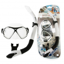 Mares Pearl Adult Dive Mask and Snorkel Set White/Clear