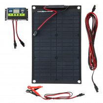Hard Korr Trickle Charger Solar Panel with Crocskin 15W 12v