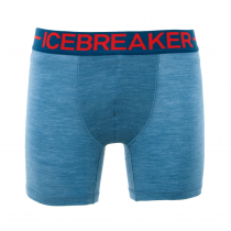 Icebreaker Mens Merino Hybrid Anatomica Zone Boxers Granite Blue Heather/Chili Red
