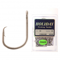 Stainless Longline Hook Pack Size 22 Qty 25