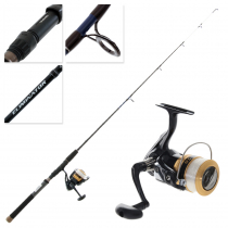 Daiwa Sweepfire 2500 2BB and Eliminator 461MLS Kayak Combo with Line 4ft 6in 3-6kg 1pc