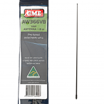 GME AW366VB VHF 1.8m Detachable Whip Black