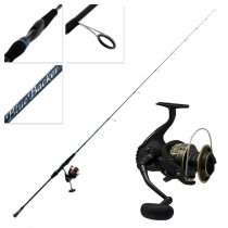 Daiwa BG16 2500 and Blue Backer LJ 662MS Spin Jig Combo with X4 J- Braid 6ft 6in PE0.8-2 2pc