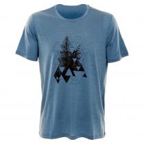 Icebreaker Merino Tech Lite Evergreen Geo Mens T-Shirt Thunder 2XL
