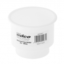 Wilco Recessed Drink Holder White