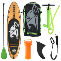 Waxenwolf Woodie Inflatable Stand Up Paddle Board Package 11ft