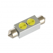 High Powered LED Festoon Bulb 41mm Cool White 2 x 1 Watt