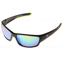 Dirty Dog Chain Sunglasses Green Fusion Mirror with Satin Black Frame