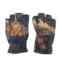 Outdoor Outfitters Neoprene Camo Fingerless Gloves L