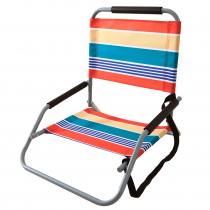 Folding Beach Chair Steel Frame with Carry Strap