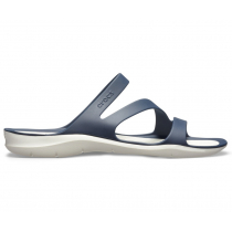 Crocs Womens Swiftwater Sandals Navy/White