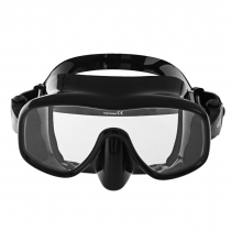 Aropec Mica Frameless Adult Dive Mask Black