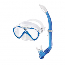 Mares Seahorse Junior Dive Mask and Snorkel Set Blue/Clear