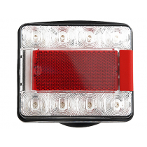 Hella Marine Square Compact LED Submersible Trailer Light 12/24V Rear Position/Stop/Indicator/Number Plate