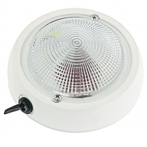 Perko Exterior Surface Mount Dome Light Red/White 12V