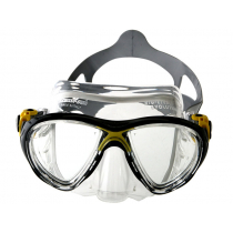 Cressi Big Eyes Evolution Crystal Dive Mask Clear/Yellow