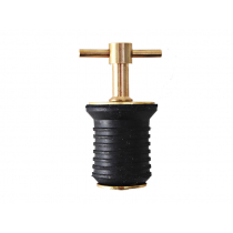 Brass Expanding Twist Top Drain Plug for 1'' Tube
