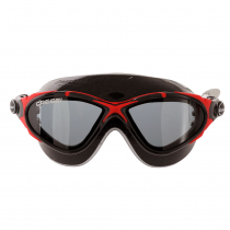 Cressi Saturn Crystal Swimming Goggles Black/Red/Smoked Lenses