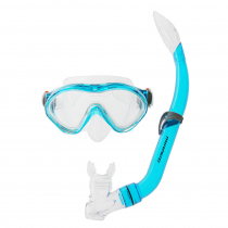 Mirage Goby Youth Transparent Blue Mask and Snorkel Set