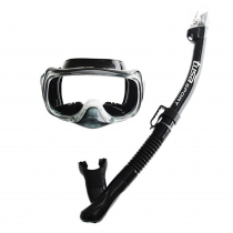 TUSA Sport Imprex 3D Dry Adult  Mask and Snorkel Set Black/Black