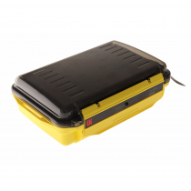 Underwater Kinetics 308 Weatherproof UltraBox Tinted Clear Lid with Pouch and Padded Liner Yellow