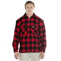 Swanndri Mens Ranger Pure Wool Bush Shirt Red Black