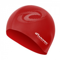 Aropec Adult Silicone Volume Swim Cap Red