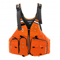 NRS Chinook PlushFIT Fishing PFD USCG Type III Orange L/XL
