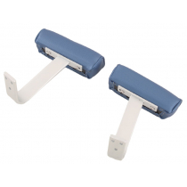 BLA Deluxe Upholstered Seat Arm Rests Blue/Grey