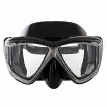 Aropec Admiral Panoramic Vision Dive Mask Black Silver