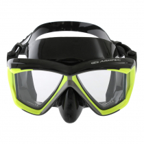 Aropec Admiral Panoramic Vision Dive Mask Black Neon Yellow