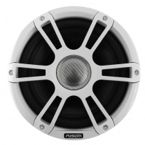 Fusion Signature 2-Way Coaxial Sports White Marine Speakers with LED 8.8in 330W
