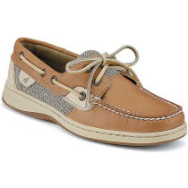 Sperry Womens Bluefish 2-Eye Boat Shoes Linen Oat US9.5