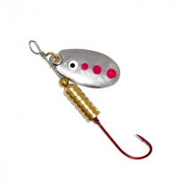 Kilwell Blade Spinner Lures Single Hook Silver Qty 1