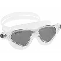 Cressi Cobra Swimming Goggles Clear/White/Smoked Lenses