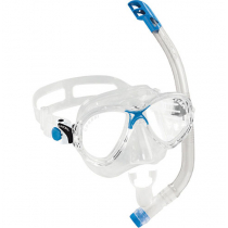 Cressi Marea VIP Jr Mask and Snorkel Set Clear/Blue