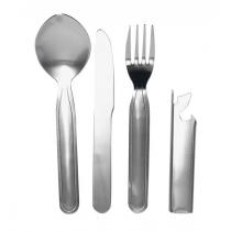 Campmaster Stainless Steel 4-Piece Chow Kit Camping Cutlery