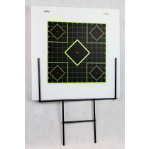 Outdoor Outfitters Target Stand & Corflute Backing Board 460X460 Comes with 1X 300mm High Viz Target