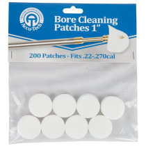 Accu-Tech Bore Cleaning Patches: 1in - Fits .22 - .270 cal