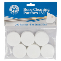 Accu-Tech Bore Cleaning Patches: 1 1/2 in - Fits 6mm - .30 cal
