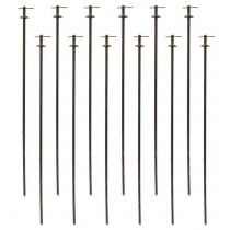 Outdoor Outfitters Field Stakes 400mm 12-Pack with Split Pins