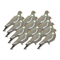 Outdoor Outfitters 14in Pigeon Full Body Decoy Upright 12-Pack