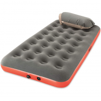 PAVILLO Roll and Relax Twin Airbed Grey/Orange