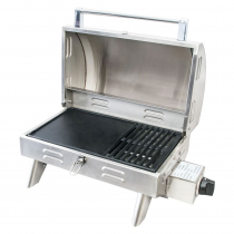 Kiwi Sizzler Stainless Marine BBQ with Flame Failure Device