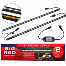 Big Red 2 Bar LED Camping Light Kit 14w