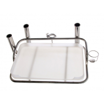 Manta Medium Bait Station with Rod Holders fits 2in 50.8mm Ski Clamp