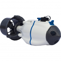 Bixpy J-1 PowerShroud Electric Kayak Motor with Outboard Battery and Rudder Adapter