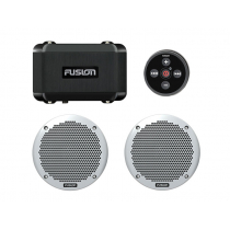 Fusion MS-BB100 Marine Black Box Entertainment Package with 6'' Speakers
