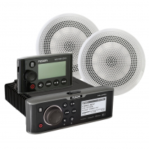 FUSION MS-UD650 Marine Stereo Package with 6.5in Speakers and Wired Remote