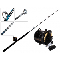 Shimano TLD 25 and Aquatip Roller Tip Rod and Reel Combo 5ft 8in 24kg 1pc